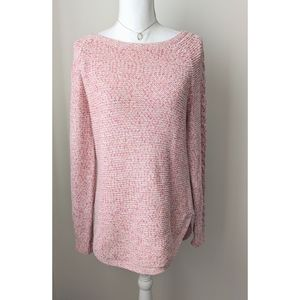 New York & Company Peach Pink Sweater Tunic